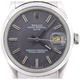 Rolex Date 15000 34mm Stainless Steel Watch