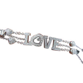 Chopard 18K Triple Strand Love Hearts Bracelet