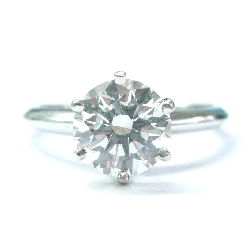 "Image of ""Tiffany & Co Platinum 2.32Ct I-Vs2 Round Cut Diamond Solitaire Ring"""