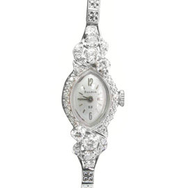 Bulova White Gold & Diamond Watch