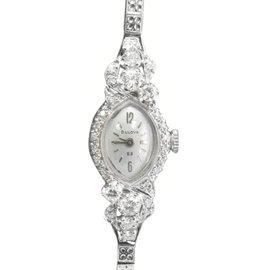 Bulova White Gold & Diamond Watch