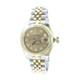 Rolex Datejust 179173 26mm Stainless Steel & Yellow Gold Diamond Watch