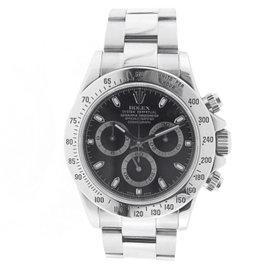 Rolex Cosmograph Daytona 116520 Stainless Steel Black Dial Wrist Mens Watch