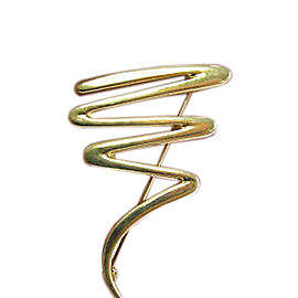 Tiffany & Co. Paloma Picasso 18K Yellow Gold Zig-Zag Pin Brooch