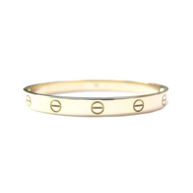 Cartier 18k Love Bracelet Yellow Gold