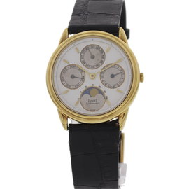 Piaget 18K Yellow Gold Perpetual Calendar Moonphase 15958 Watch