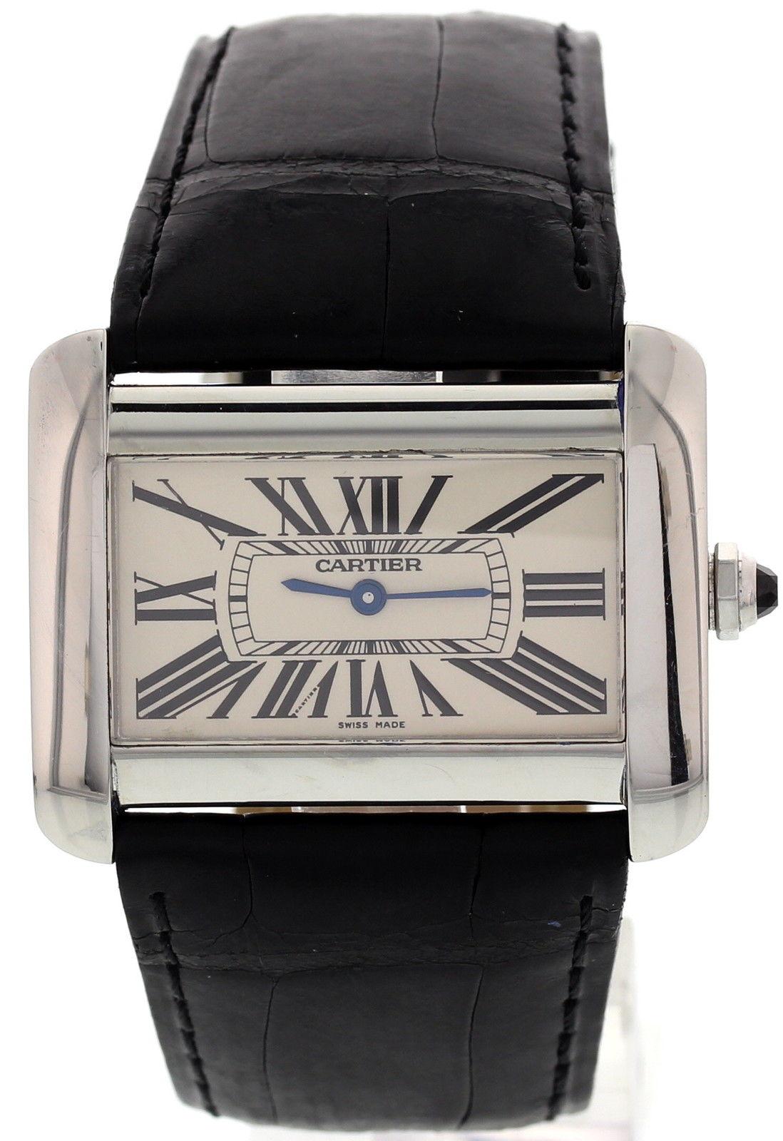 "Image of ""Cartier Tank Divan 2600 Stainless Steel Watch"""