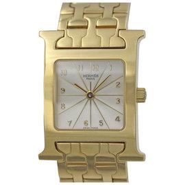 Hermes HH1.285 H Hour 18K Yellow Gold Quartz Ladies Watch
