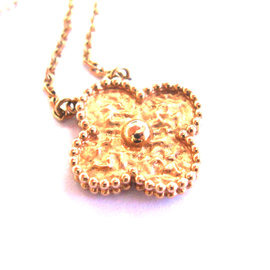 Van Cleef & Arpels 18K Rose Gold Vintage Alhambra Pendant Necklace