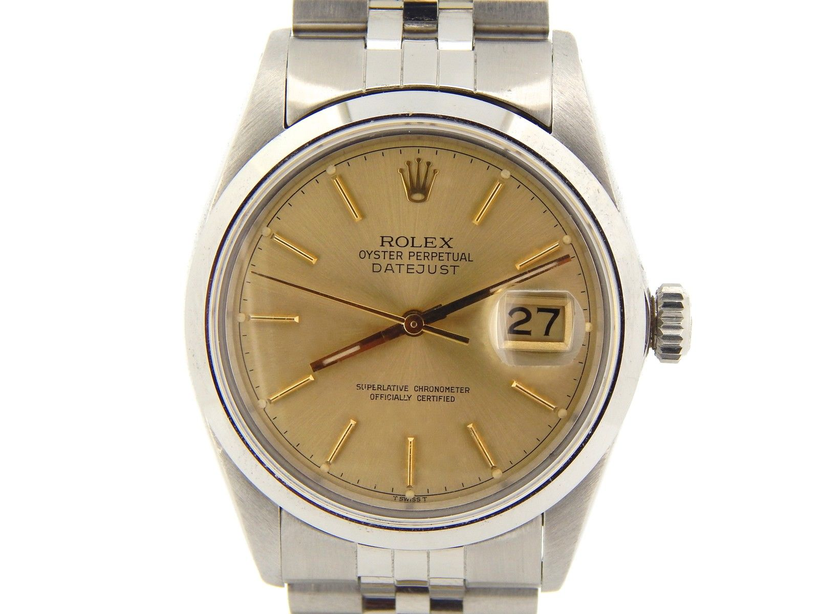 "Image of ""Rolex Stainless Steel Datejust 16030 Jubilee w/Gold Champagne Dial"""