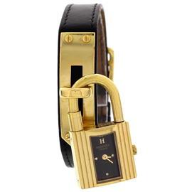 Hermes Kelly Gold Plated Ladies Lock Watch
