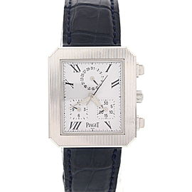 Piaget 14254 Protocol 18K White Gold Mens Watch