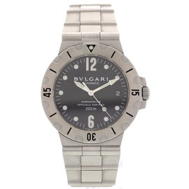 Bulgari Diagono SD 38 S Automatic Stainless Steel Men's Watch