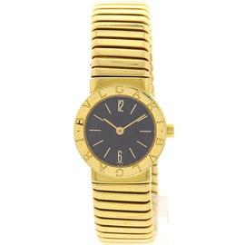 Bulgari Tubogas 4057 18K Yellow Gold Womens Watch