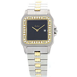 Cartier Santos 18K Yellow Gold & Stainless Steel Automatic Mens Watch