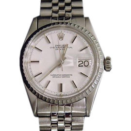 Rolex Datejust 1603 Stainless Steel White Dial & Jubilee Band Vintage Mens Watch