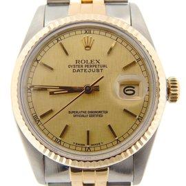 Rolex 16013 18K Gold/Stainless Steel Datejust Linen w/Jubilee Band Watch