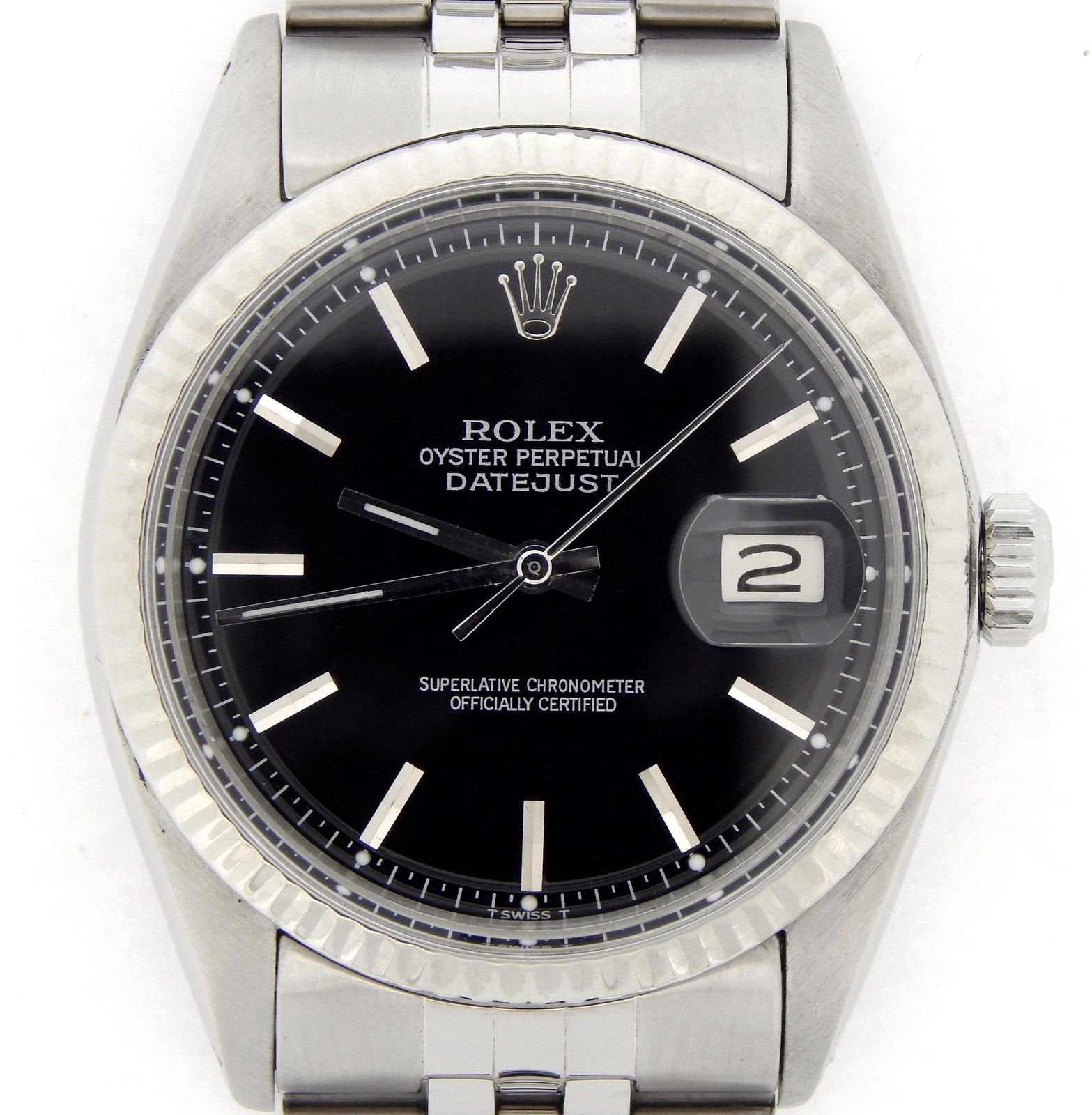 "Image of ""Rolex Stainless Steel/18K White Gold Datejust w/Jubilee Band & Black"""