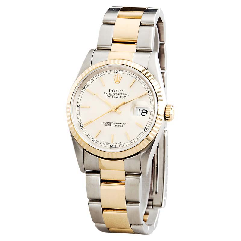 """Image of """"Rolex 16233 2Tone 18K Gold/Stainless Steel Datejust W/Oyster Band"""""""