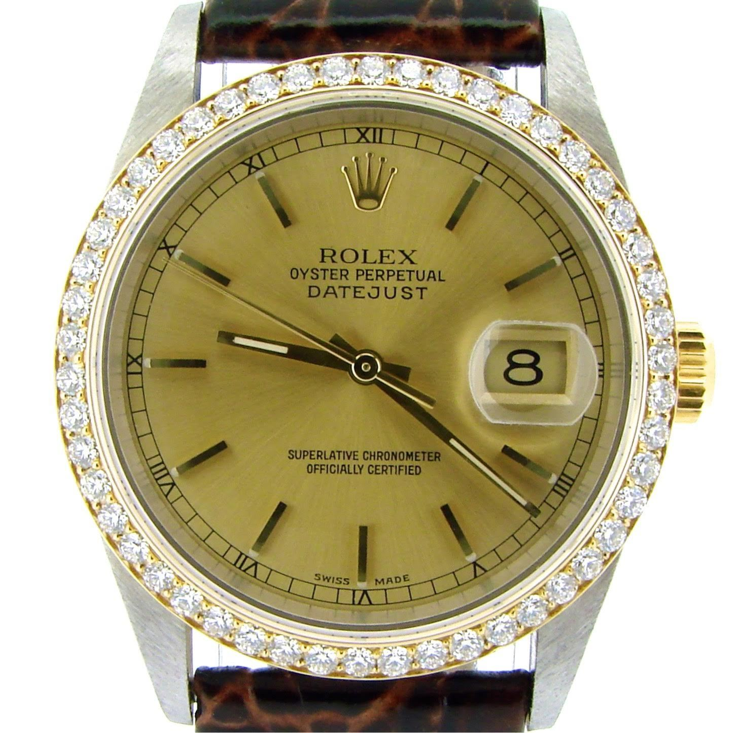 """Image of """"Rolex Datejust 16233 2Tone 18K Gold/Stainless Steel 1.40ct Diamond"""""""