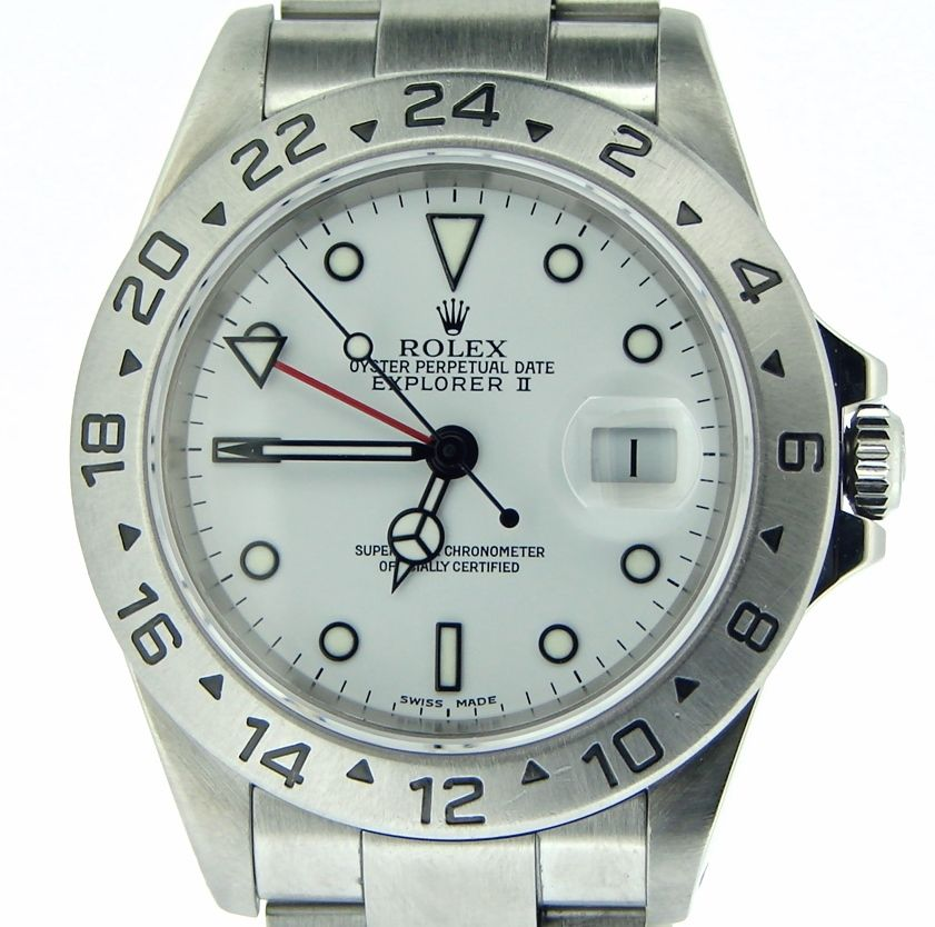 "Image of ""Rolex 16570 Explorer II Stainless Steel SEL Oyster White Dial 40mm"""