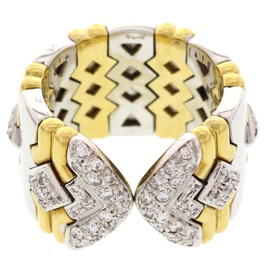 Chopard 18K Two Tone Gold and Diamond Ring