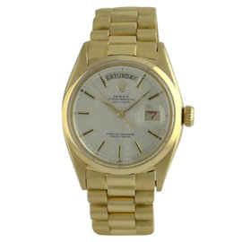 Rolex President Day Date 6612 18K Solid Yellow Gold Mens Vintage Watch
