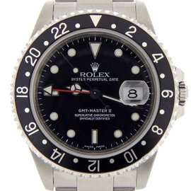 Rolex GMT-Master II 16710 Black Oyster Stainless Steel Mens Watch