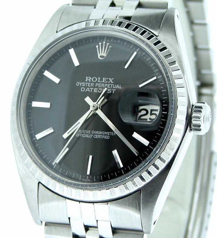 "Image of ""Rolex 1603 Datejust Stainless Steel Jubilee w/Engine-Turned Bezel"""