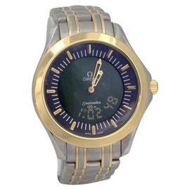 Omega Sea Master Multi Function 18K Yellow Gold Stainless Steel Digital Watch