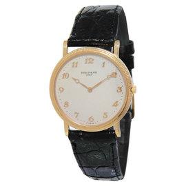 Patek Philippe Calatrava 3520D 18K Rose Gold Cream Dial Mens Watch