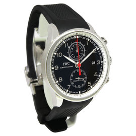 IWC 3902 Portuguese Yacht Club Chronograph Steel Black Dial Watch