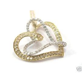 Fine Double Heart Diamond Pendant Necklace