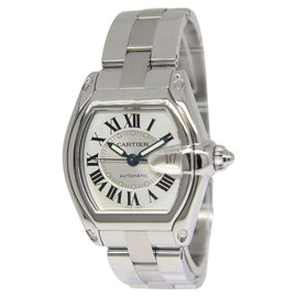 Cartier Roadster 2510 Stainless Steel Silver Dial Mens Watch