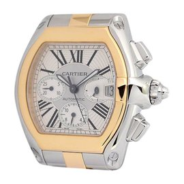 Cartier Roadster 2618 Chronograph 18K Gold & Steel Automatic Mens Watch