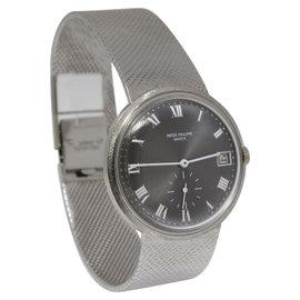 Patek Philippe 3445G 18K White Gold Vintage Automatic Bracelet Mens Watch