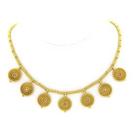 Castellani 18K Yellow Gold and Diamond Necklace
