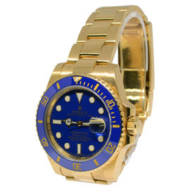 Rolex Submariner 116618 18K Yellow Gold Ceramic Mens Watch