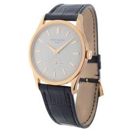 Patek Philippe Calatrava 5196R 18K Rose Gold Mens Watch