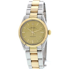 Rolex Oyster Speedking Precision 18K Yellow Gold and Stainless Steel Unisex Watch