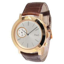 Piaget Altiplano Double Jeu 18K Rose Gold Manual Mens 43mm Watch