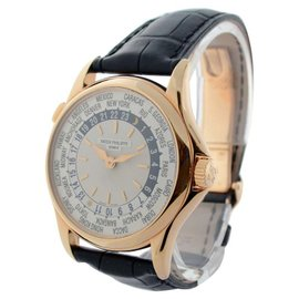 Patek Philippe World Time 5110R 18K Rose Gold Mens Watch