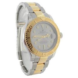 Rolex Yachtmaster 16623 M Gold Steel Mens Watch