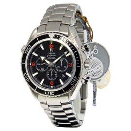Omega 2210.51.00 Seamaster Planet Ocean Stainless Steel Black Dial Mens Watch