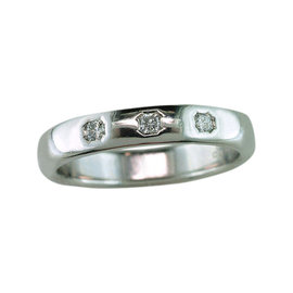 Tiffany & Co. Lucida Platinum and Diamond Wedding Ring Size 7