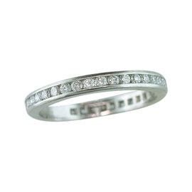 Tiffany & Co.Platinum and Diamond Eternity Wedding Ring Size 4.5