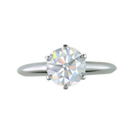 Tiffany & Co. Platinum and Diamond Certified Solitaire Engagement Ring Size 4.75