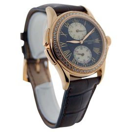 Patek Philippe 4934R Travel Time 4934 18K Rose Gold Pearl & Diamonds Watch