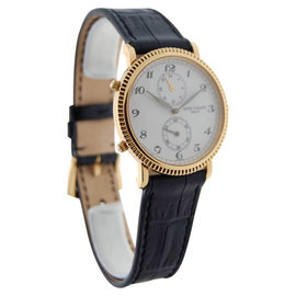 Patek Philippe 5034 Travel Time 18K Yellow Gold Mens Watch