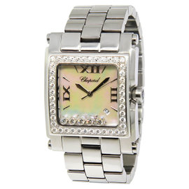 Chopard Happy Sport Square XL 28-8448/20 Stainless Steel MOP Diamond Womens Watch